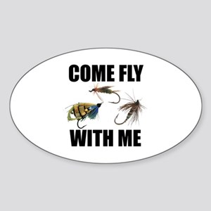 Come Fly With Me Oval Sticker