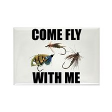 Come Fly With Me Rectangle Magnet