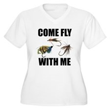 Come Fly With Me Women's Plus Size V-Neck T-Shirt