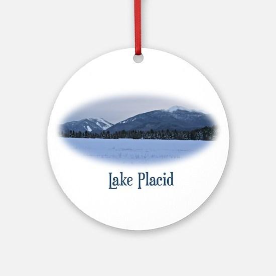Lake Placid Mountain Ornament (Round)
