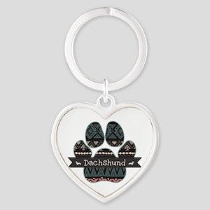 Dachshund Heart Keychain