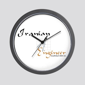 Iranian Engineer Wall Clock