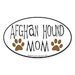 Afghan Mom Oval (black border) Oval Sticker