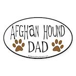 Afghan Dad (black border) Oval Sticker