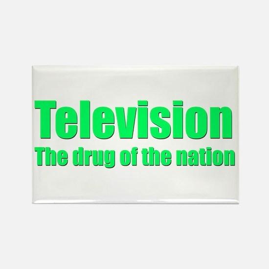 Television; Drug of the Nation! Rectangle Magnet