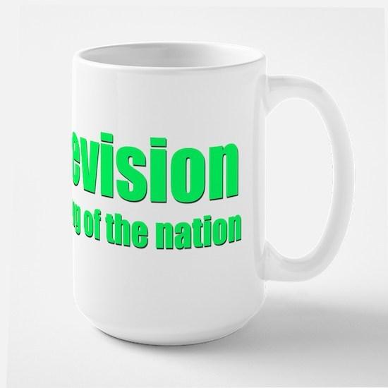 Television; Drug of the Nation! Large Mug