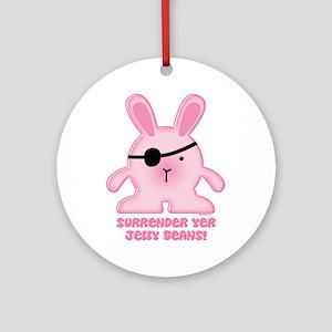 Pirate Bunny Ornament (Round)