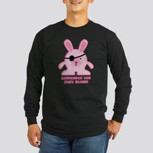 Pirate Bunny Long Sleeve Dark T-Shirt