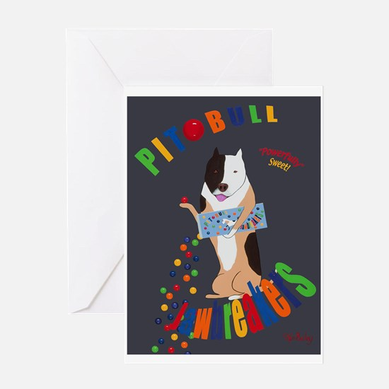 Pit Bull Jaw Breakers Greeting Card