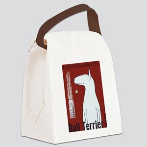 Bull Terrier Tea Canvas Lunch Bag