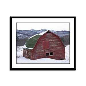 Keene Valley Barn Framed Panel Print