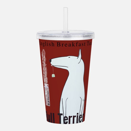 Bull Terrier Tea Acrylic Double-wall Tumbler