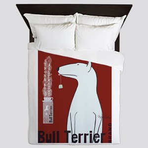 Bull Terrier Tea Queen Duvet
