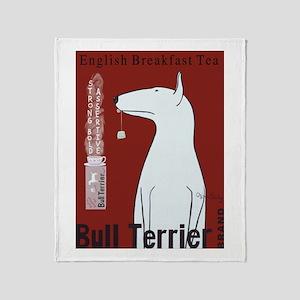 Bull Terrier Tea Throw Blanket