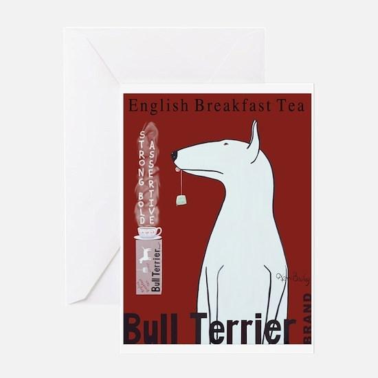 Bull Terrier Tea Greeting Card