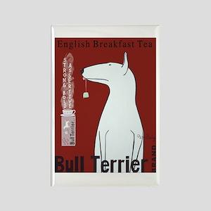 Bull Terrier Tea Rectangle Magnet