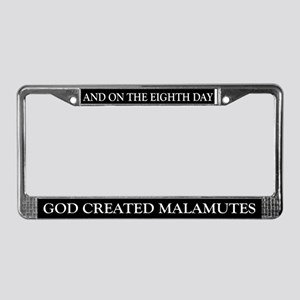 8TH DAY Malamutes License Plate Frame