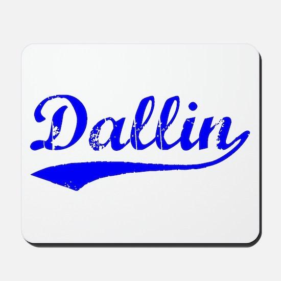 Vintage Dallin (Blue) Mousepad