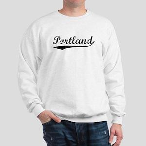 Vintage Portland (Black) Sweatshirt