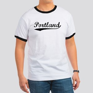 Vintage Portland (Black) Ringer T