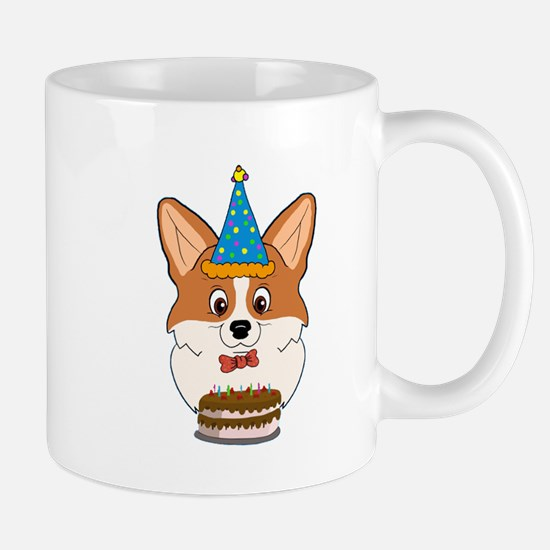 Happy Birthday Corgi Mugs