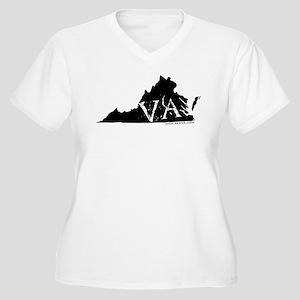 Virginia Women's Plus Size V-Neck T-Shirt