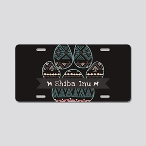 Shiba Inu Aluminum License Plate