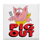 Pig Out Tile Coaster