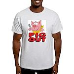 Pig Out Ash Grey T-Shirt
