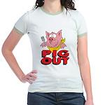 Pig Out Jr. Ringer T-Shirt