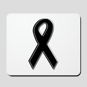 Black Awareness Ribbon Mousepad
