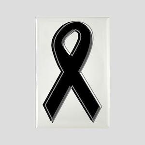 Black Awareness Ribbon Rectangle Magnet