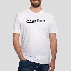 Vintage Prescott V.. (Black) Fitted T-Shirt