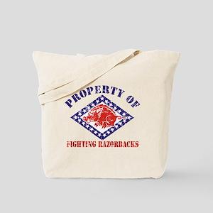 FIGHTING RAZORBACKS DISTRESSE Tote Bag