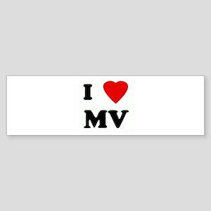 I Love MV Bumper Sticker