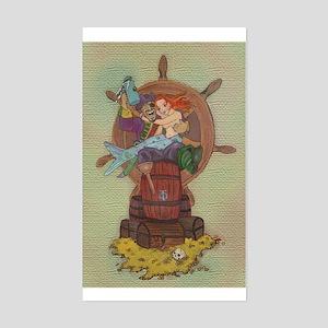 Pirate & Mermaid Rectangle Sticker