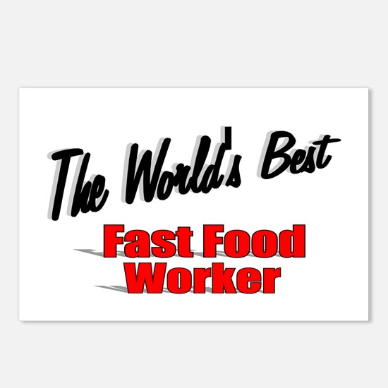 """The World's Best Fast Food Worker"" Postcards (Pac"