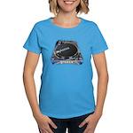 Mykonos Turntable Women's Blue T-Shirt