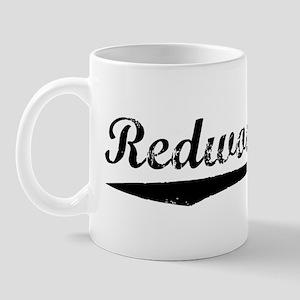 Vintage Redwood City (Black) Mug