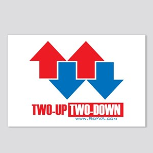 2 up 2 down Arrows Postcards (Package of 8)