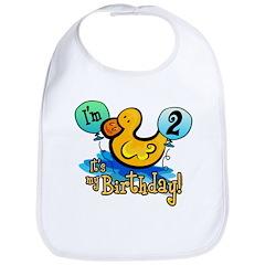 Ducky Birthday 2nd Bib