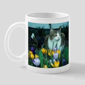 Floral Cat Mug