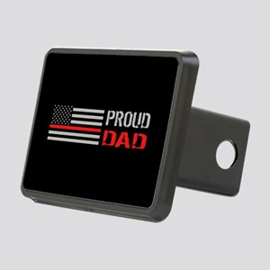 Firefighter: Proud Dad (Bl Rectangular Hitch Cover