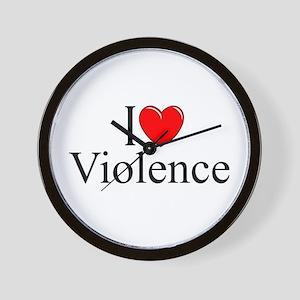 """I Love Violence"" Wall Clock"
