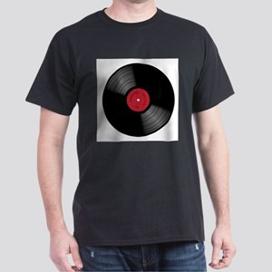 Vinyl 33rpm Record With Red Label T-Shirt