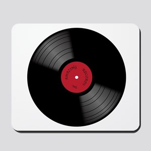 Vinyl 33rpm Record With Red Label Mousepad