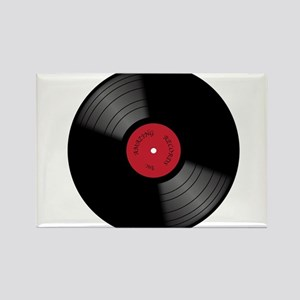 Vinyl 33rpm Record With Red Label Magnets