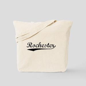 Vintage Rochester (Black) Tote Bag