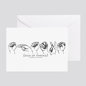 Sign of Thanks Greeting Cards (Pk of 10)