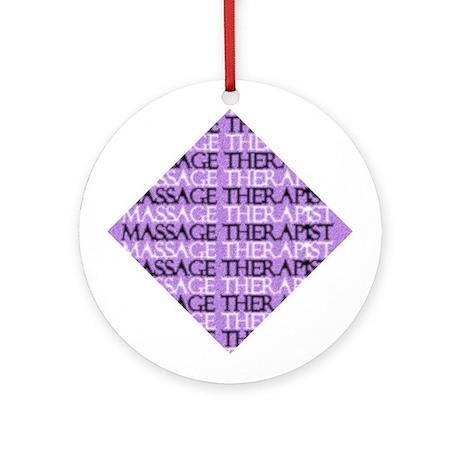 Purple Square Massage Ornament (Round)